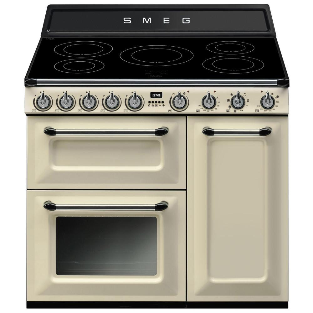Smeg TR93IP 90cms Electric Induction Range Cooker - Cream