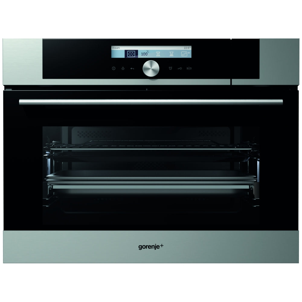 Gorenje GCS773X Built-In Steam Oven - Stainless Steel & Glass