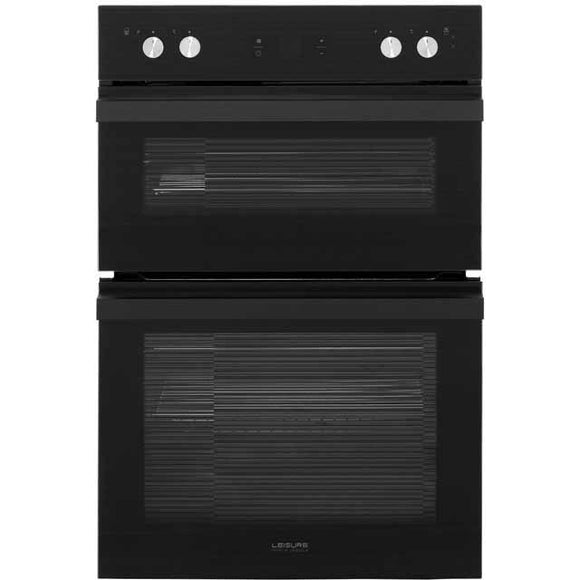 Leisure PODM54300 Built-In Electric Double Oven - Black