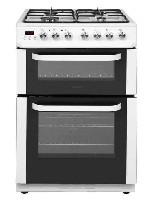 Servis DD60W Dual Fuel Cooker - White