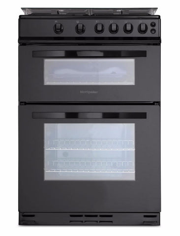 Montpellier MDG600LK Gas Cooker - Black