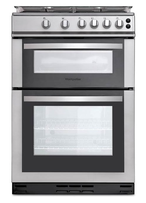 Montpellier MDG600LS Gas Cooker - Silver