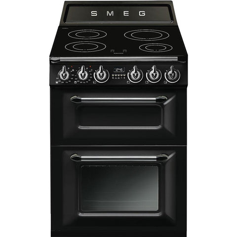 Smeg TR62IBL 60cm Electric Cooker with Induction Hob - Black