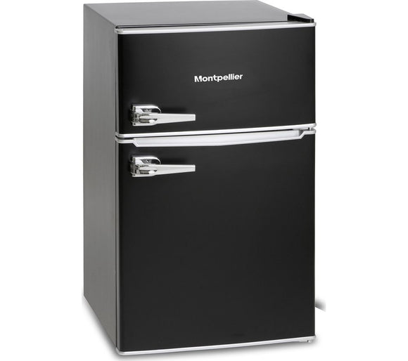 Montpellier MAB2030K 80/20  Fridge Freezer  - Black