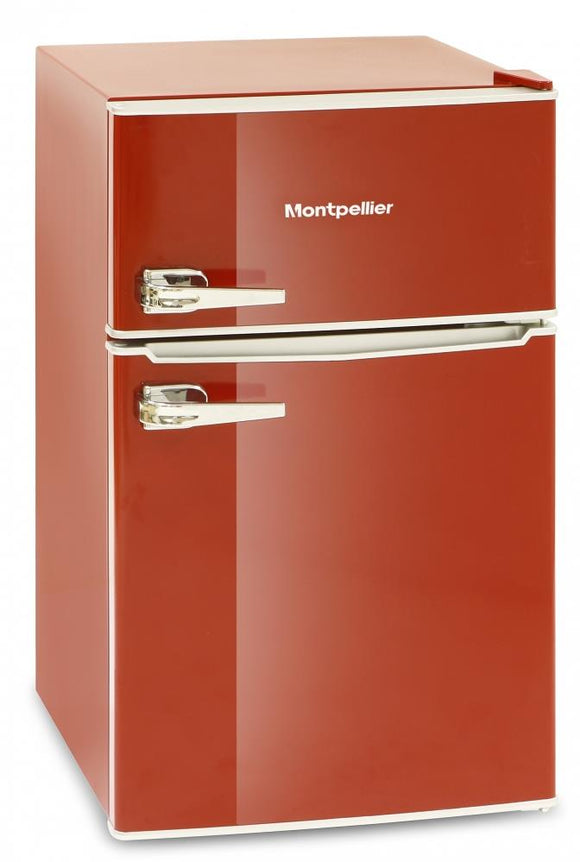 Montpellier MAB2030R 80/20  Fridge Freezer  - Red