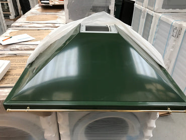 Baumatic QF9.GR Cooker Hood - Green & Brass