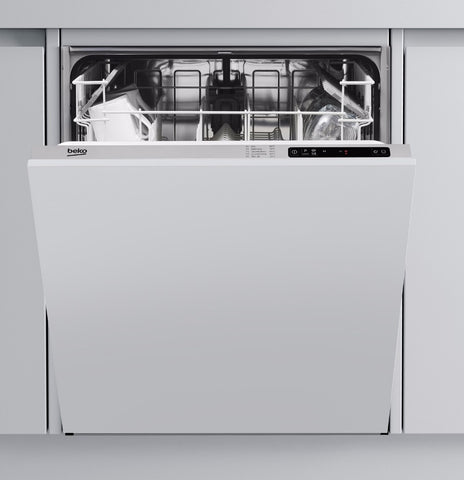 Beko DIN15R10 Full Size  Built-In Dishwasher -  White