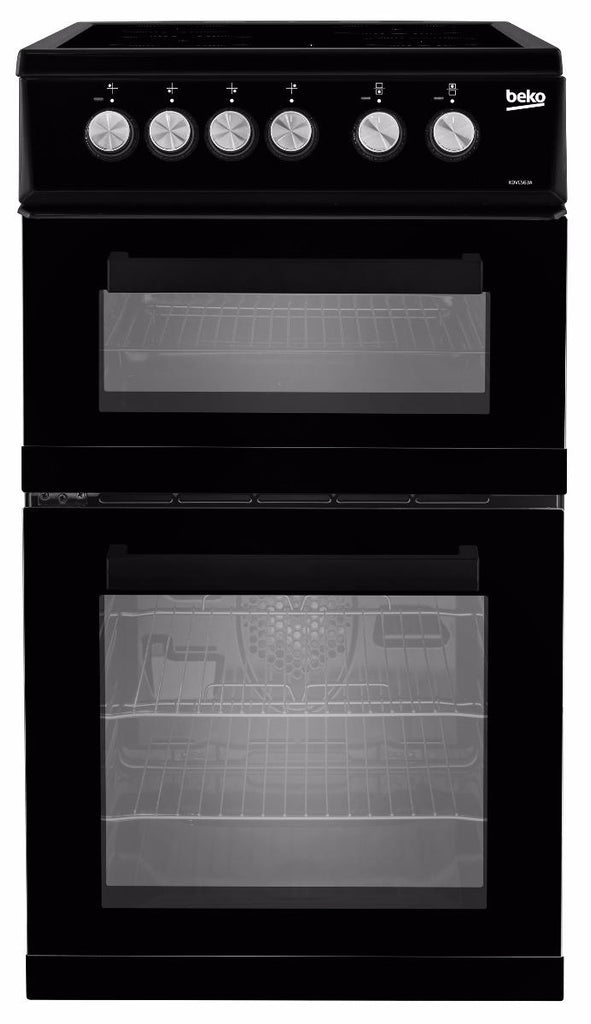 Beko KDVC563AK Double Oven Electric Cooker - Black
