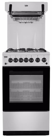 Beko KA52NES Gas Cooker Eye Level Grill - Silver