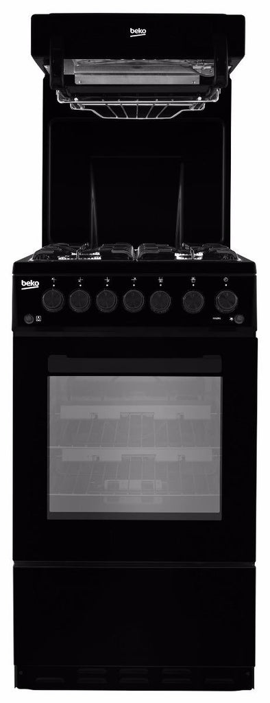 Beko KA52NEK Gas Cooker Eye Level Grill - Black