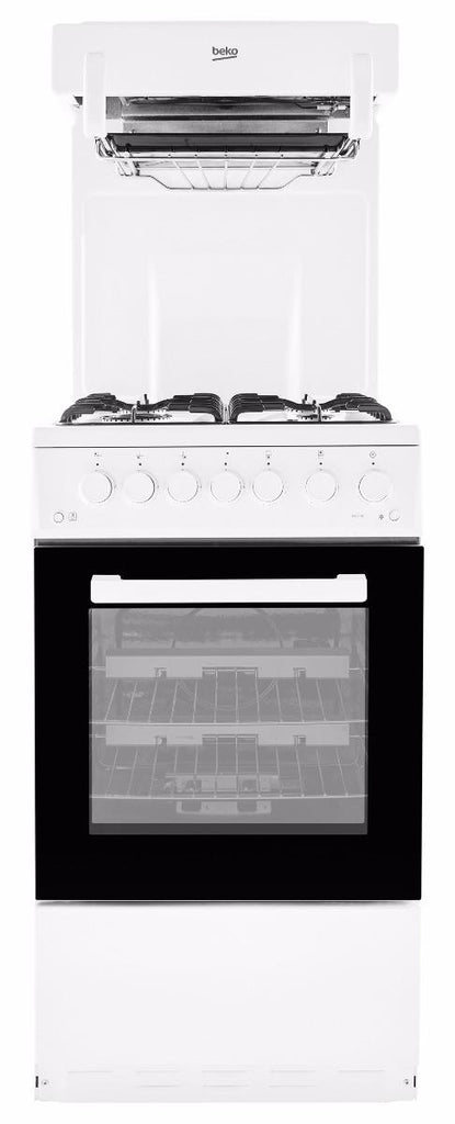 Beko KA52NEW Gas Cooker Eye Level Grill - White