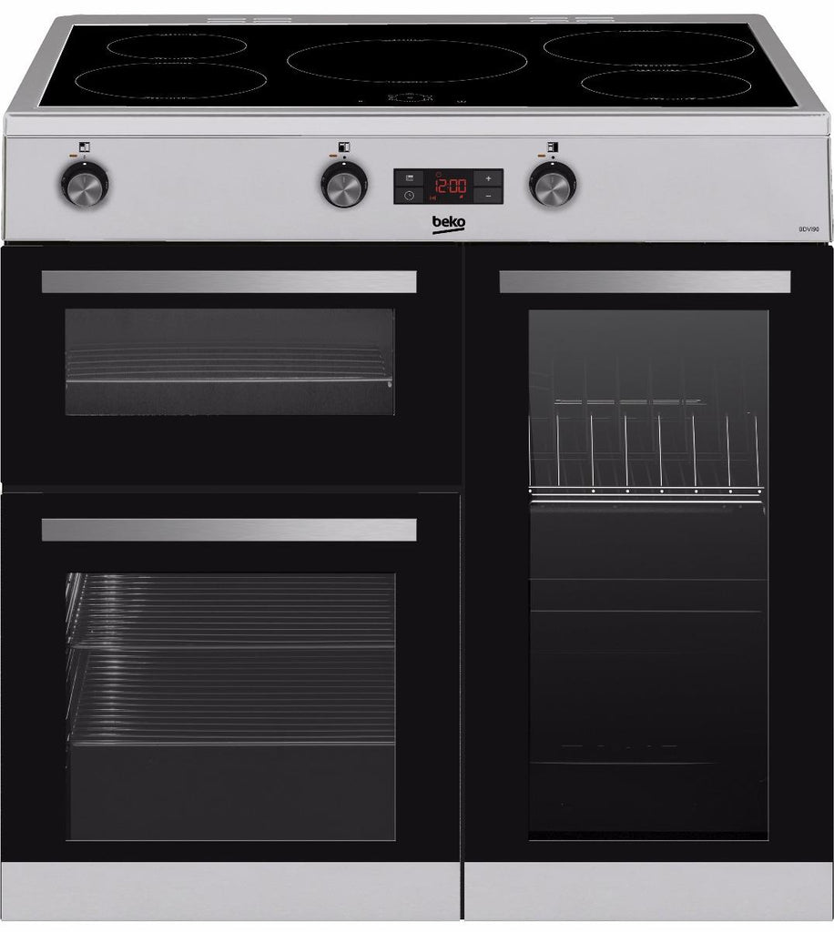 Beko KDVI90X 90cm  Induction Electric Range Cooker - Stainless Steel