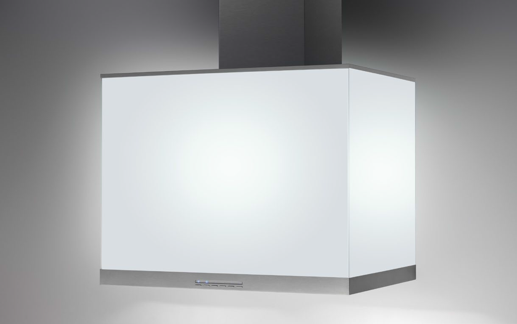 Airforce F86 Cubo 70cm Cube Italian Designer Cooker hood Stainless Steel and Black Glass