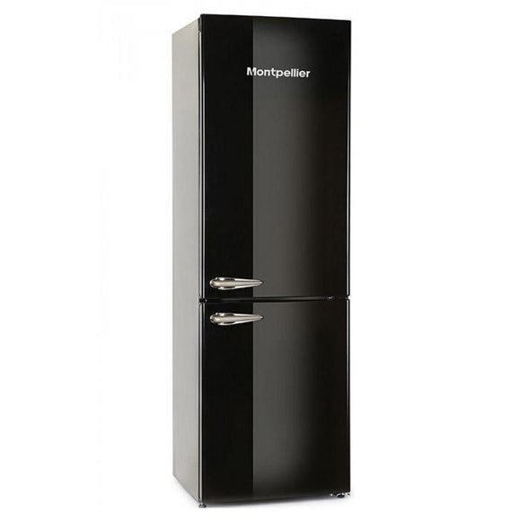 Montpellier MAB385K 70/30 Retro Frost Free Fridge Freezer - Black