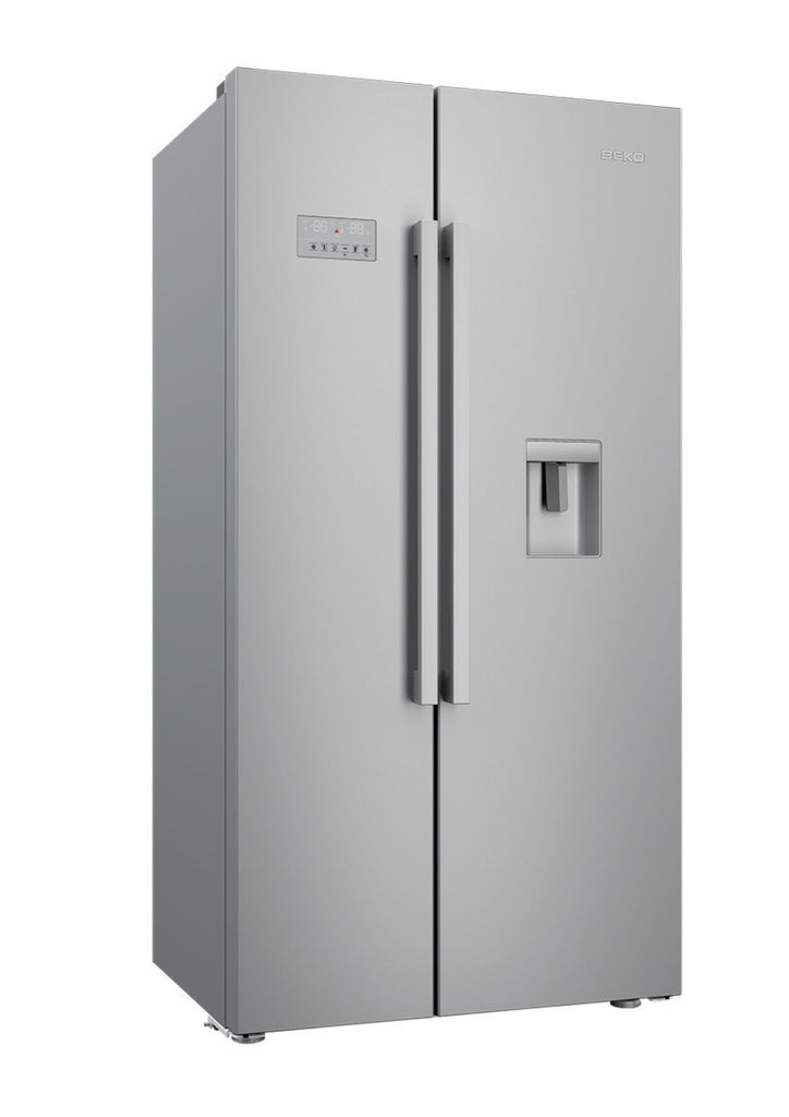 Ex Display Beko ASD241X American Fridge Freezer Frost Free - Stainless Steel