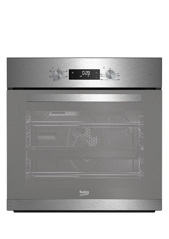 Ex Display Beko BXIF22300M Built-In Single Oven - Stainless Steel and Mirrored Glass