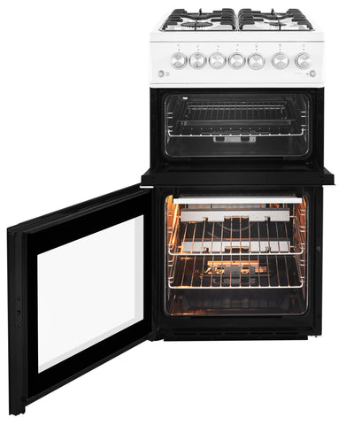 Beko XDVG5XNTW 50cm Double Oven Gas Cooker - White