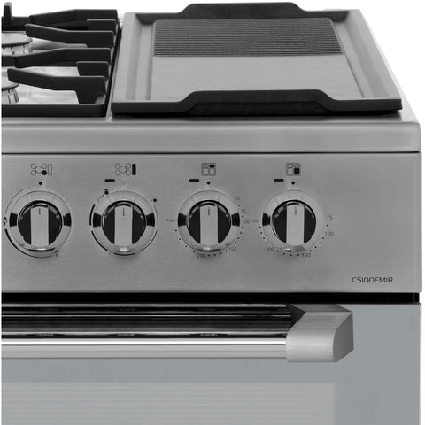 Leisure CS100FMIRX 100cms Dual Fuel Range Cooker - Stainless Steel