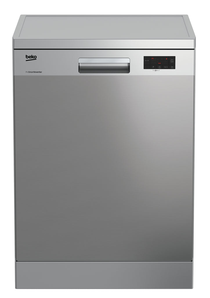 Beko DFN15R10X 60cm Full Size Dishwasher - Stainless Steel