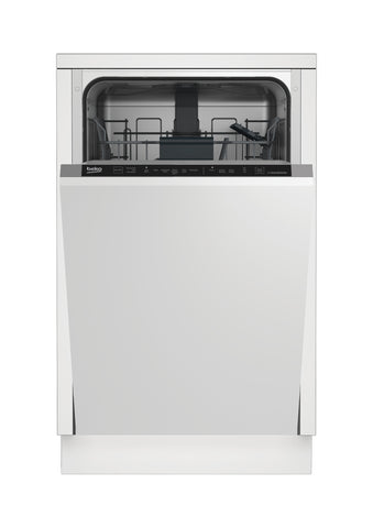 Beko DIS16R10 Built-In Slimline Dishwasher - White