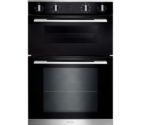 Rangemaster RMB9048BL/SS Built-In Electric Double Oven - Black 11220