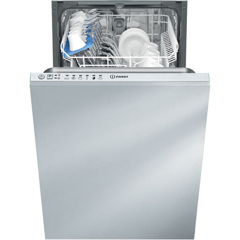 Indesit DISRM16B19 Slimline Built-In Dishwasher - White