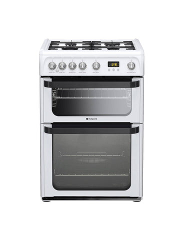 Hotpoint JLG60P 60cm Gas Cooker - White
