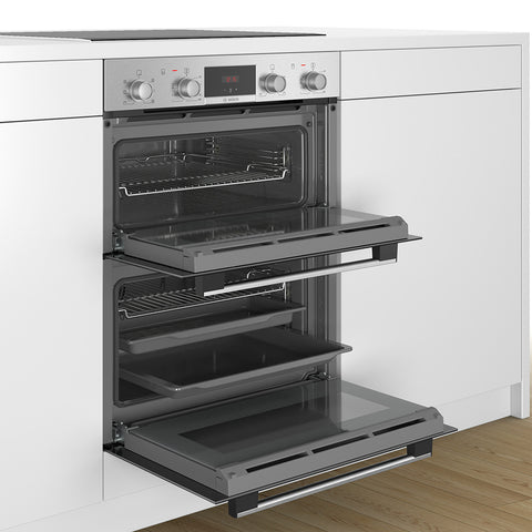 Bosch NBS113BR0B 72cm Built-In Electric Double Oven - Stainless Steel