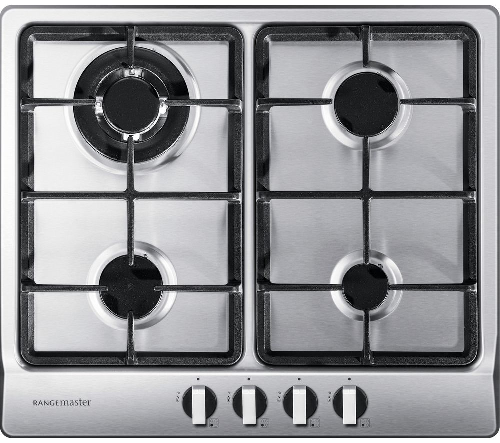 Rangemaster RMB60HPNGFSS 60cm Gas Hob - Stainless Steel 11221
