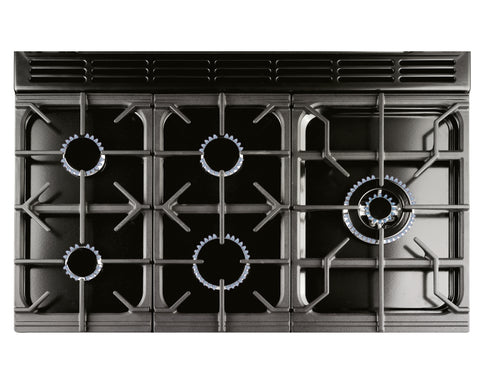 Rangemaster PROP100DFFGB/C Professional Plus 100cm Dual Fuel Range Cooker - Black/Chrome 92600