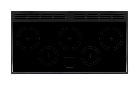 Rangemaster NEX110EIBL/C Nexus 110cm Induction Range Cooker- Black/Chrome 104830