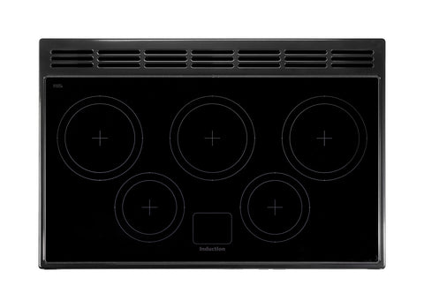 Rangemaster PDL90EIGB/C Professional Deluxe 90cm Induction Range Cooker - Black/Chrome 97870