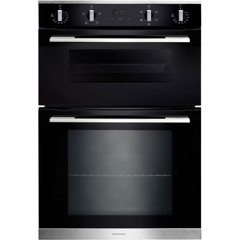 Rangemaster RMB9045BL/SS 90cm Built-In Electric Double Oven - Black