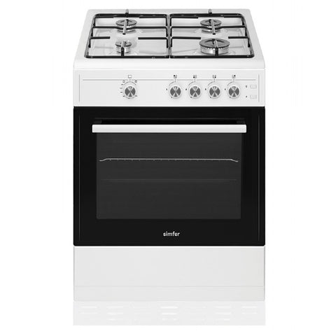 Simfer SCO50GW 50cm Single Cavity Gas Cooker - White