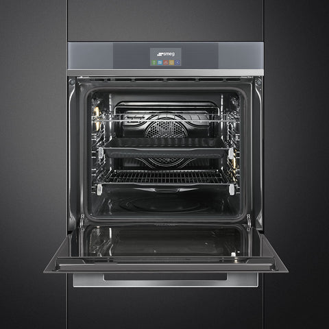 Smeg Linea SFP6104TVN Built-In Electric Oven - Black Glass