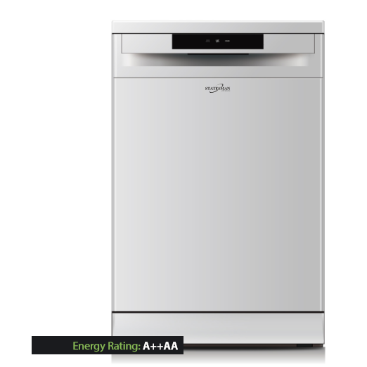 Statesman SFD12P 60cm Full Size Dishwasher - White