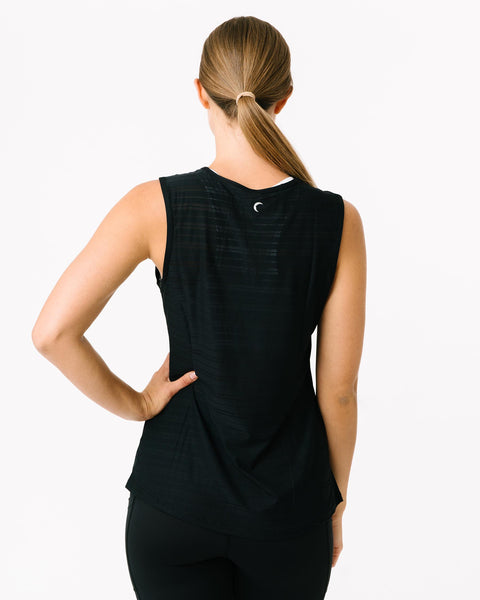 Zyia Black Luxe Muscle Tank