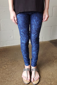 Distressed Blue Leggings Kids