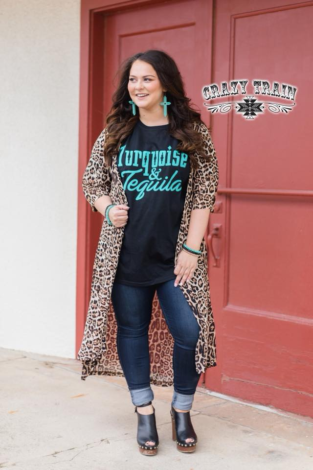 Crazy Train Dixie Leopard Duster