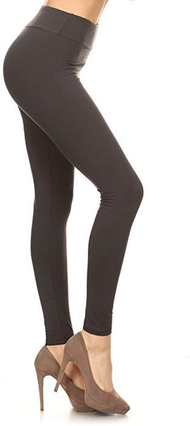 Plus Size Solid Leggings