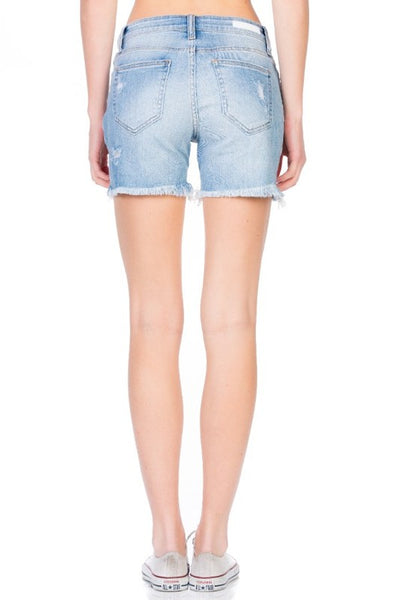 Cello Light Denim Cutoff Shorts