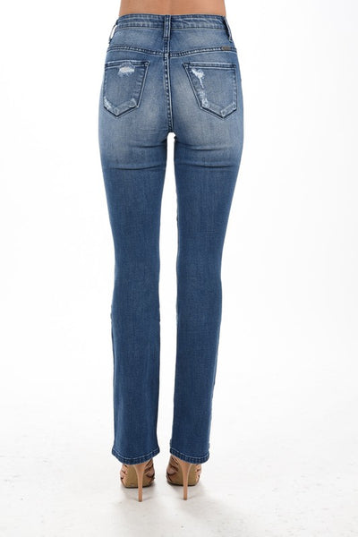 KanCan High Rise Destroyed Bootcut Jeans