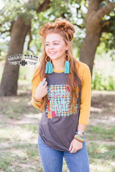 Crazy Train Leaves & Lattes Baseball Tee