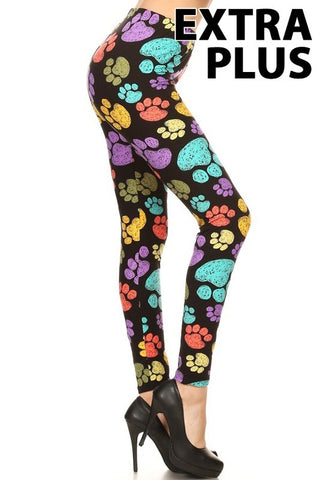 Extra Plus Paw Print Leggings