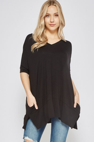 Solid Pocket Tunic