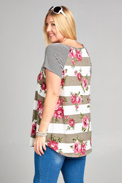 Floral Striped Tunic