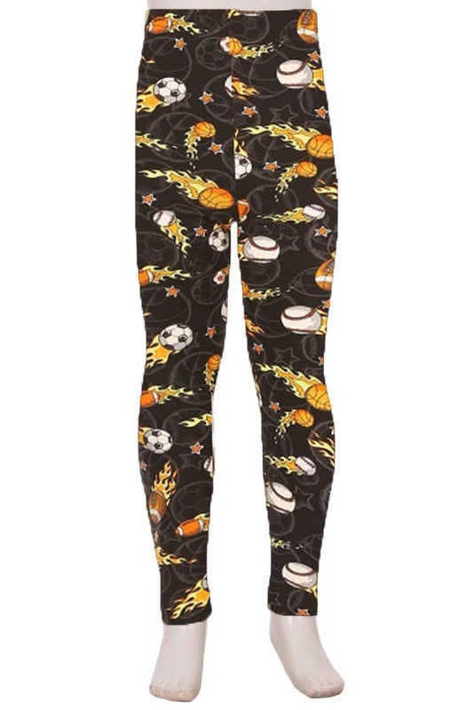 On Fire Sports Leggings Kids