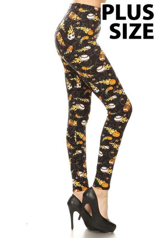 Plus Size On Fire Sports Leggings