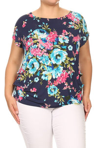 Beautiful Blooms Navy Floral Top