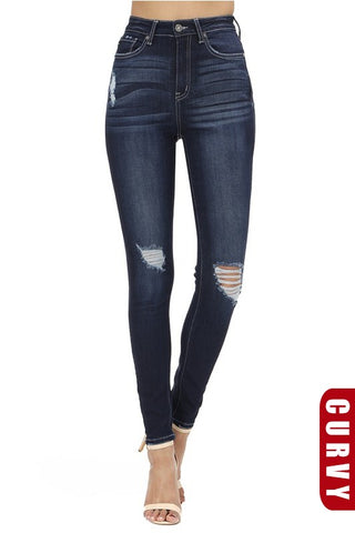 Curvy KanCan Blue Washed Skinnies